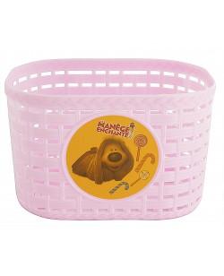 """Корзина передней 12 """"пластик, розовый (KOS019)"""