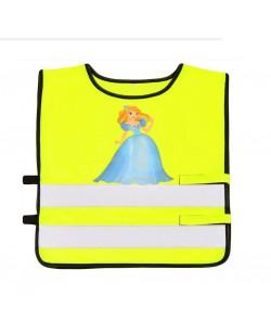 Дитяча світловідбиваюча жилетка Princess, салатовий (WYP351)