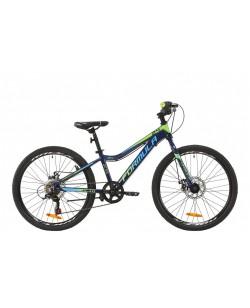 """Велосипед AL 24 """"FORMULA ACID 1.0 DD рама 12"""" индиго / салатовый (OPS-FR-24-186)"""