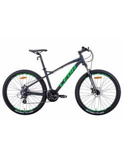 """Велосипед AL 27.5 """"Leon XC-90, DD, рама 19"""" черный / зеленый (OPS-LN-27.5-086)"""