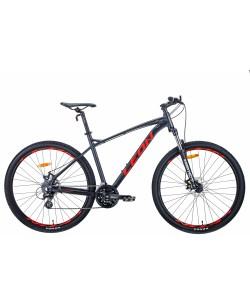 """Велосипед AL 29 """"Leon TN-90, DD, рама 20"""" графитовый / красный (OPS-LN-29-096)"""