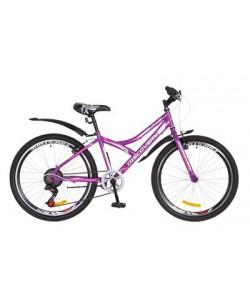 "Велосипед ST 24 ""Discovery FLINT Vbr рама 13"", с крылом, фиолетовый (OPS-DIS-24-222)"