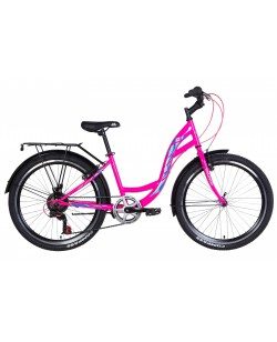 "Велосипед ST 24 ""Discovery KIWI Vbr рама 14"" розовый (OPS-DIS-24-257)"