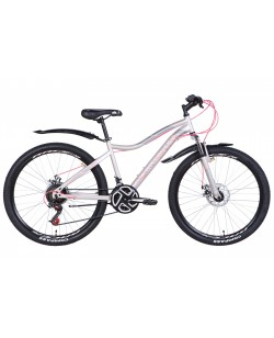 "Велосипед ST 26 ""Discovery KELLY DD рама  16"" серебристый (OPS-DIS-26-370)"