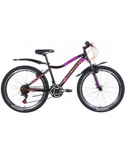"Велосипед ST 26 ""Discovery KELLY Vbr рама  16"" черный - оранжевый - фиолетовый (OPS-DIS-26-368)"