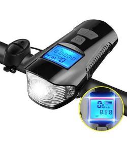 Фара передняя + велокомпютер + сигнал XA-585-T6 + 2LED, аккум., ЗУ micro USB (XA-585)