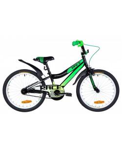 "Велосипед ST 20 ""FORMULA RACE Vbr, рама 10.5"" черный / зеленый (OPS-FRK-20-143)"
