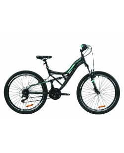 """Велосипед ST 26 """"FORMULA ATLAS VBR рама 17"""" черный / бирюзовый (OPS-FRK-26-377)"""