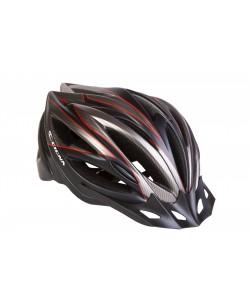 Шлем велосипедный CIGNA WT-068 черный / красный (HEAD-018)