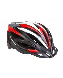 Шлем велосипедный CIGNA WT-068 черный / красный / белый (HEAD-019)