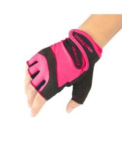 Велоперчатки Meteor без пальцев женские черный /розовый (32039)