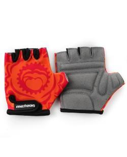 Велоперчатки детские Meteor Big Flower оранжевый/розовый (24182)