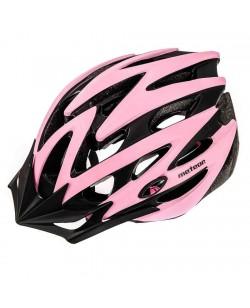 Шлем велосипедный Meteor MV29 розовый/черный (23972)