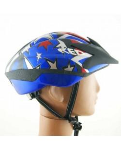Шлем велосипедный Ked со звездами синий (K-8)