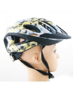 Шлем велосипедный Ked серо-желтый (K-6)