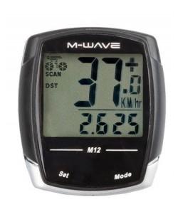 Велокомпьютер M-Wave M12 черный  (A-L-0081)