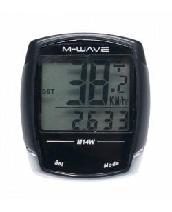 Велокомпьютер M-Wave M14W Черный  (M-244732)