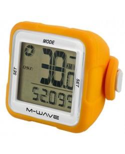 Велокомпьютер M-Wave 14 функций беспроводной оранжевый (A-L-0076)
