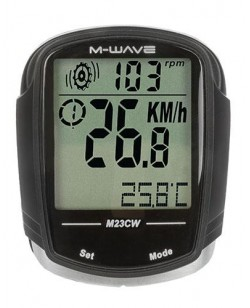 Велокомпьютер M-Wave M23CW беспроводной Черный (A-L-0078)