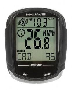 Велокомпьютер M-Wave M30HCW беспроводной Черный (A-L-0077)