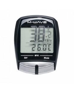 Велокомпьютер M-Wave M16 Черный  (M-244733)