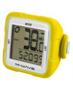 Велокомпьютер M-Wave 14 функций беспроводной желтый (A-L-0073)