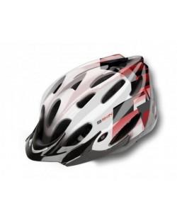 Шлем велосипедный B-Skin Regular белый с черным (KAS049)