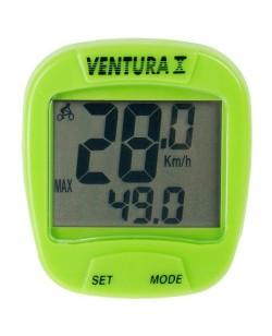 Велокомпьютер Ventura 10F Зеленый (A-L-0067)