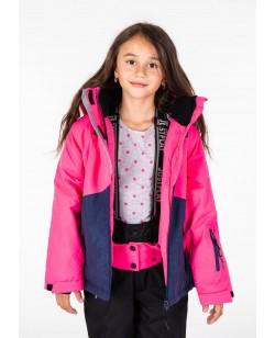 Куртка лыжная детская Just Play Aurora синий / розовый (B4328-darkblue)