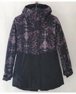 Куртка лыжная женская Just Play Butterfly черный (B2336-red)