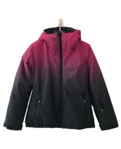 Куртка лыжная женская Just Play Rain черный / розовый (B2363-red)