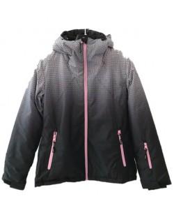 Куртка лыжная женская Just Play Rain черный / серый (B2363-grey)