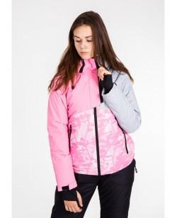 Куртка лыжная женская Just Play Sika розовый / серый (B2344-pink)