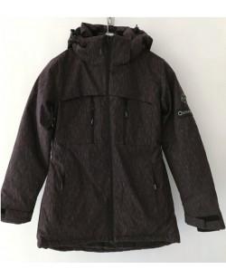 Куртка лыжная женская Just Play темный коричневый (B2355-red)