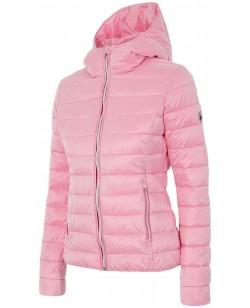 Женская куртка с капюшоном 4F розовая (H4L17-KUD003-827)