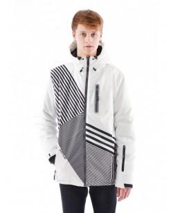Куртка Just Play Zebra Мужчинам Белый/черный  (B1223-white)