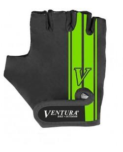 Велоперчатки Ventura, черный / зеленый (A-PZ-0666-green)