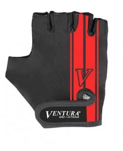 Велоперчатки Ventura, черный / красный (A-PZ-0666-red)
