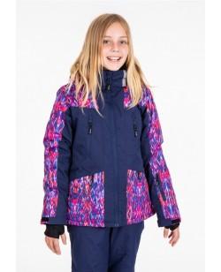 Куртка лыжная детская Just Play Ardo синий / розовый (b4327-darkblue)