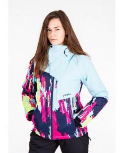 Куртка лыжная женская Just Play Cirk голубой / розовый (B2345-blue)