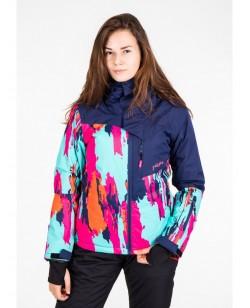 Куртка лыжная женская Just Play Cirk синий / розовый (B2345-orange)