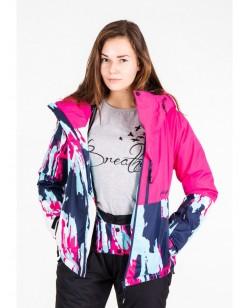 Куртка лыжная женская Just Play Cirk синий / розовый (B2345-pink)