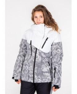 Куртка лыжная женская Just Play Lanta белый / серый (B2337-white)
