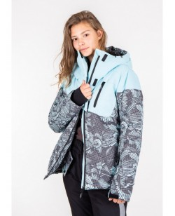Куртка лыжная женская Just Play Lanta голубой / серый (B2337-blue)