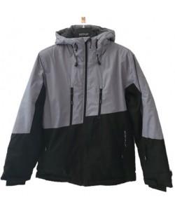 Куртка лыжная мужская Just Play Grape черный / серый (b1327-grey)
