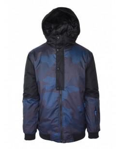 Куртка лыжная мужская Just Play Leone черный / синий (B1317-blue)