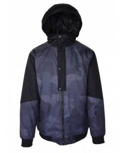 Куртка лыжная мужская Just Play Leone черный / серый (B1317-grey)