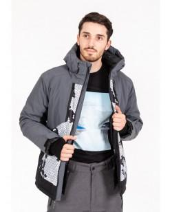 Куртка лыжная мужская Just Play Tern серый (B1332-kaki)