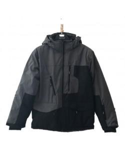 Куртка лыжная мужская Just Play черный / серый (b1325-grey)