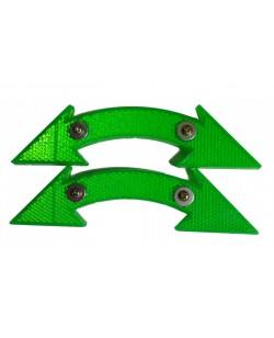 Катафоты велосипедные DN-130 2 шт, зеленый (DN-130-green)